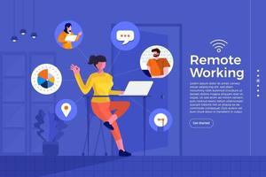Remote-Büro arbeiten vektor