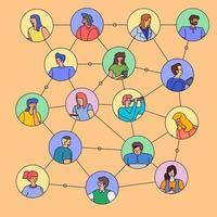 Leute, die sich in Chatballons verbinden vektor