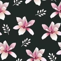 nahtloses Muster mit Magnolienblüten vektor