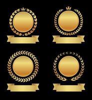 goldenes Auszeichnungsabzeichen vektor