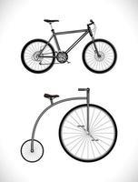 Fahrrad modern und alt vektor