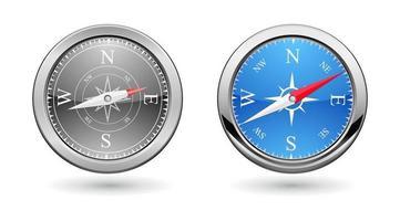kompass metall ikon