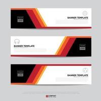 Banner Design für Business-Präsentation vektor