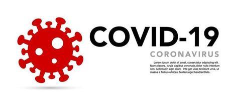 Zeichen Vorsicht Coronavirus. Stoppen Sie das Coronavirus-Banner. vektor