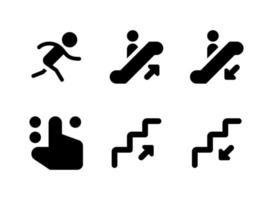 enkel uppsättning wayfinding relaterade vektor fasta ikoner