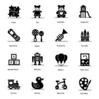 barndom, kul, lek och leksaker vektor