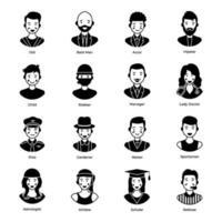 Menschen und professionelle Avatare vektor