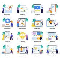 företagskurser och utbildning online vektor