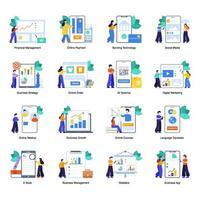 affärs- och digital ekonomi vektor
