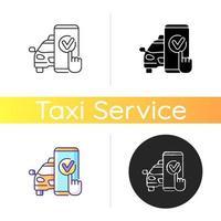 Taxi Buchungssymbol vektor