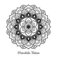 Mandala-Verzierung Boho-Stil Hintergrunddesign vektor