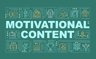 Motivationsinhalt Wortkonzepte Banner vektor