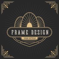 Vintage Linie Rahmen Art Deco-Stil vektor