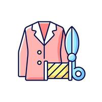 benutzerdefinierte Anzüge und Hemden RGB Farbikone vektor