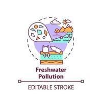Süßwasserverschmutzungskonzeptikone