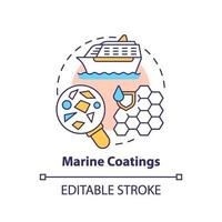 marina beläggningar koncept ikon.