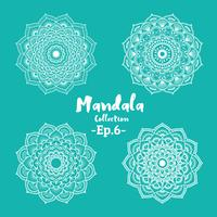 Satz des dekorativen und dekorativen Mandala-Designs vektor