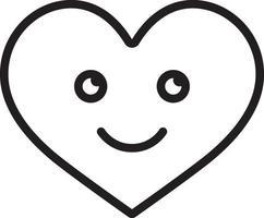 Liniensymbol für die Liebe vektor
