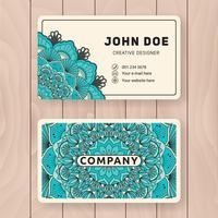 Kreative nützliche Visitenkarte Design. Vintage farbige Manda
