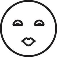 Zeilensymbol für Kuss vektor