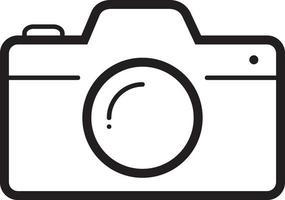 linje ikon för kamera