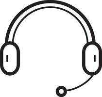linje ikon för hörlurar