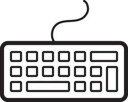 linje ikon för tangentbord