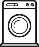 linje ikon för tvätt