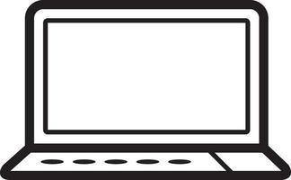 linje ikon för bärbar dator