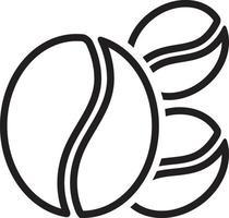 linje ikon för kaffebönor
