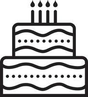 linje ikon för tårta