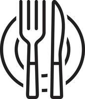Liniensymbol für Besteck