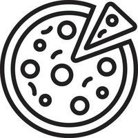 linje ikon för pizza