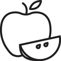linje-ikonen för frukt