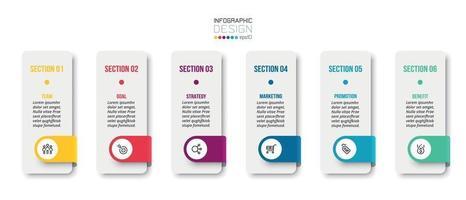 Infografik Geschäftsvorlage mit Schritt oder Option Design.