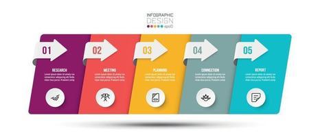 Infografik Geschäftsvorlage mit Schritt oder Option Design. vektor