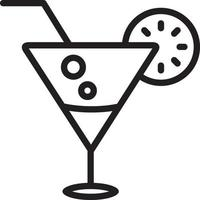 linje ikon för dryck