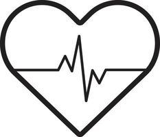 linje ikon för hjärta