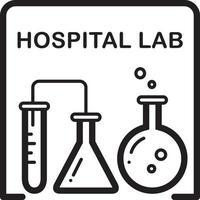 linje ikon för sjukhus