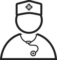 linje ikon för läkare