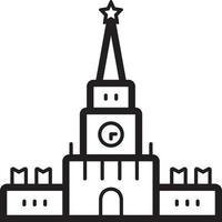 linje ikon för kreml vektor