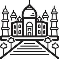 Liniensymbol für Taj vektor