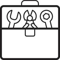 Liniensymbol für Toolbox vektor