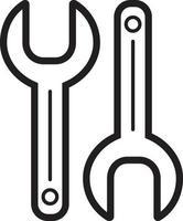 Zeilensymbol für Schraubenschlüssel vektor