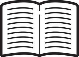 linje ikon för bok