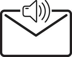 linje ikon för röst vektor