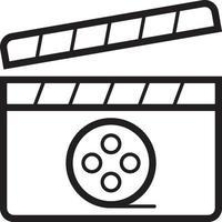 linje ikon för film