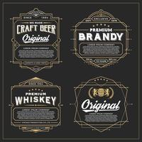 Vintage-Rahmen-Design für Etiketten, Banner, Aufkleber und andere Design vektor