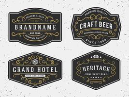 Flourish Kalligraphie Rahmendesign für Etiketten, Banner, Logo, Embl vektor