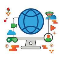 global illustration. datorillustration. platt vektor ikon. kan användas för, ikon designelement, ui, webb, mobilapp.